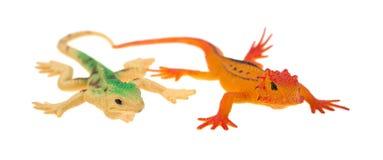Lézards en plastique photo libre de droits