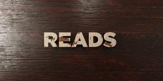 Lê - título de madeira sujo no bordo - a imagem conservada em estoque livre rendida 3D dos direitos Imagens de Stock Royalty Free