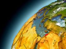 Líbano de la órbita de Earth modelo Fotos de archivo libres de regalías