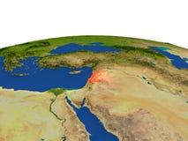Líbano en rojo de la órbita ilustración del vector