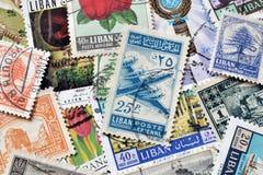 Líbano en sellos Foto de archivo libre de regalías
