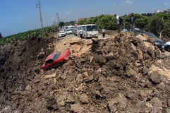 Líbano sob o bombardeio fotografia de stock royalty free