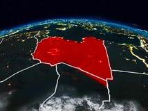 Líbia na noite ilustração do vetor