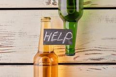 Líbrese de la dependencia del alcohol imagen de archivo