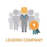 Líder Banner de Icon Business Boss del encargado Leading Company stock de ilustración