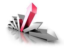 Líder bem sucedido Of Concept Team da seta ilustração do vetor