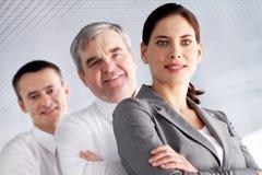 Líder com equipe Imagem de Stock Royalty Free