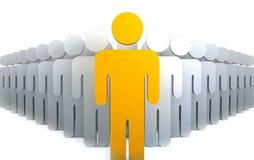 Líder com povos Imagens de Stock