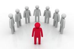 Líder Concept del grupo Foto de archivo