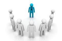 Líder Concept do grupo ilustração royalty free