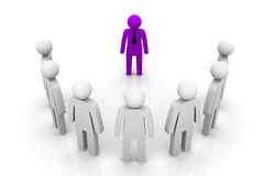 Líder Concept do grupo ilustração do vetor