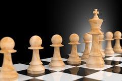 Líder Concept no negócio, rendição da xadrez 3D Imagens de Stock