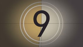 Líder Countdown de la película de color con el sonido libre illustration