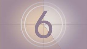 Líder Countdown do filme de cor com som ilustração royalty free