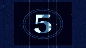Líder Countdown do filme - filme FX1001 vídeos de arquivo