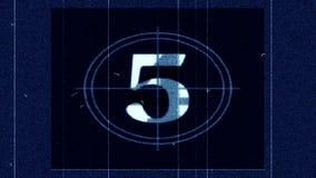 Líder Countdown - película FX1001 de la película almacen de metraje de vídeo