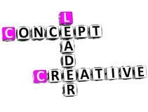 líder criativo Crossword do conceito 3D Fotos de Stock