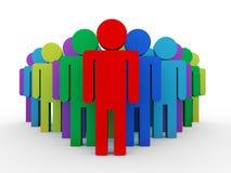 líder 3d com grupo Imagem de Stock