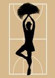 Líder da claque 3 do basquetebol Imagens de Stock Royalty Free