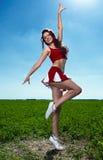 Líder da claque da beleza Foto de Stock Royalty Free