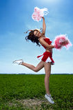 Líder da claque da beleza Imagens de Stock Royalty Free