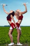 Líder da claque de duas belezas Imagens de Stock