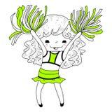Líder da claque dos desenhos animados ilustração royalty free