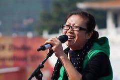 Líder da claque na maratona 2011 de zhuhai Fotos de Stock
