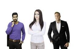Líder das mulheres da equipe do negócio Fotografia de Stock