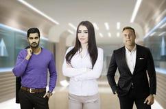Líder das mulheres da equipe do negócio Imagens de Stock Royalty Free