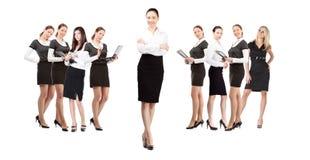 Líder das mulheres de equipe Fotografia de Stock