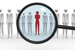Líder de equipo de la búsqueda Fotografía de archivo