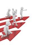 Líder de equipo Red Arrows Imagen de archivo libre de regalías