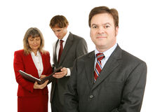 Líder de negócio masculino sério Fotos de Stock Royalty Free