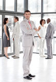 Líder de negócio que mostra a liderança Imagens de Stock Royalty Free