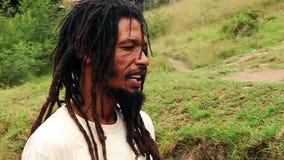Líder de Rasta almacen de metraje de vídeo
