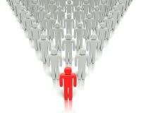 Líder delante de una gente del grupo. Foto de archivo