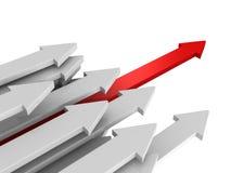 Líder dianteiro Red Arrow Of Team Group Flow da maneira ilustração royalty free
