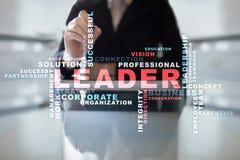 Líder Dirección Teambuilding Concepto del asunto Nube de las palabras fotos de archivo