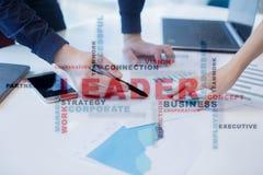 Líder Dirección Teambuilding Concepto del asunto Nube de las palabras foto de archivo libre de regalías