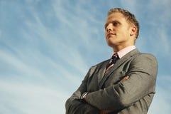 Líder do homem de negócios foto de stock