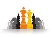 Líder do penhor da xadrez ilustração stock