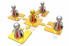 Líder e equipe dourados do negócio ilustração stock