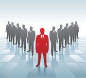 Líder e sua equipe. Imagens de Stock
