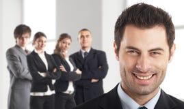 Líder e sua equipe fotos de stock royalty free