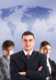 Líder e sua equipe imagem de stock