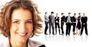 Líder e sua equipe Fotos de Stock
