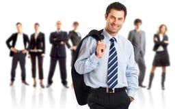 Líder e sua equipe Imagens de Stock