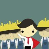 Líder e subordinado Imagem de Stock