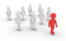 Líder e um grupo de outro Foto de Stock